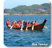 photo of a canoe in the 2010 Tribal Journey