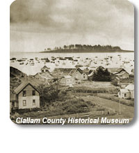historic photo of a town