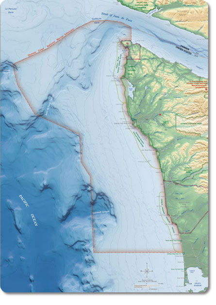 Olympic Coast National Marine Sanctuary map