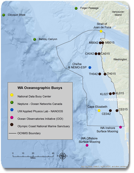 Olympic Coast Science Oceanography - Oceanographic map